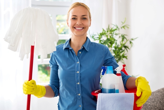 myhome cleaners at work in a kitchen
